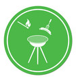 barbecue sausage icon vector image