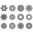 Snowlakes set vector image vector image