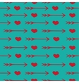 Love seamless pattern romantic hearts and arrows vector image