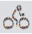 people sports cycling vector image