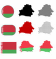 belarus country vector image