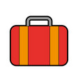color red suitcase cartoon vector image