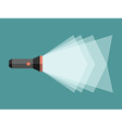 Flashlight with light beam vector image