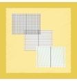 flat shading style icon school notebooks vector image