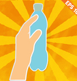 Hand handle drinking bottle - - EPS10 vector image