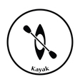 Kayak and paddle icon vector image