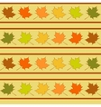 Maple leaf in rows seamless pattern leaves vector image
