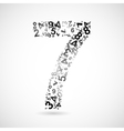 number seven from numbers vector image