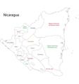 Outline Nicaragua map vector image