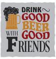 vintage drink poster vector image