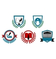 Set of abstract university or college symbols vector image vector image