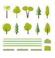 flat trees set vector image vector image