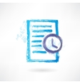 Doc and clock grunge icon vector image vector image