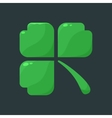 Shamrock clover over dark background vector image