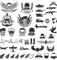 Set of military labels badges emblems and design vector image