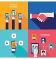Social Network Technology Banner set Online vector image vector image