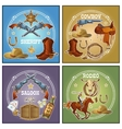 Wild West Compositions vector image