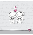 hand drawn wedding couple vector image vector image