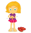 Girl Dressing up vector image