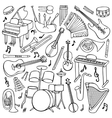 Doodle Music Instruments vector image