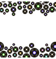 black vynil records pattern vector image