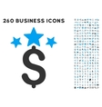 Business Stars Icon with Flat Set vector image