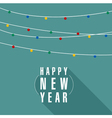 Christmas and New Year garland vector image