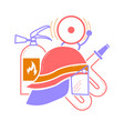elements for firemen vector image