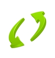 Green circular arrows icon vector image
