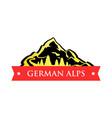 logo of german alps vector image