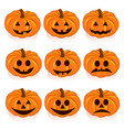 ripe pumpkins on white background vector image