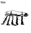 wine yard hand sketch lanscape vector image