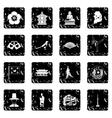 South Korea set icons grunge style vector image