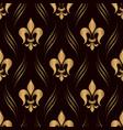 damask seamless pattern golden background elegant vector image vector image