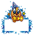 clown whit banner on star vector image vector image