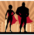 Superhero Couple 4 vector image vector image