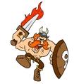 Angry Viking vector image vector image