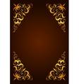 Elegant decorative hand drawn template frame vector image