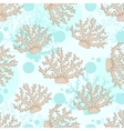 seamless pattern with beige coral vector image