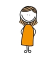 drawing pregnant woman isolated icon design vector image