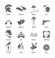 Film Genres Icons Black Set vector image