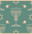 hanukkah seamless pattern with vector image