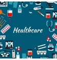 Healthcare medical infographic banner vector image