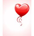 Heart as air balloon with ribbon vector image