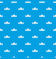 royal crown pattern seamless blue vector image