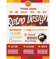 Vintage retro page template for a variety of vector image