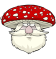 mushroom head vector image vector image