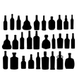 Silhouette alcohol bottle vector image