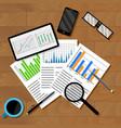 economic analytics of infographics vector image