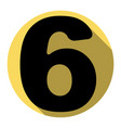 number 6 sign design template element vector image
